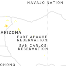 Regional Hail Map for Show Low, AZ - Friday, August 21, 2020
