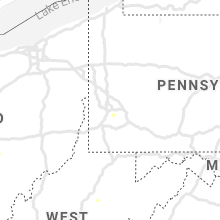 Regional Hail Map for Pittsburgh, PA - Saturday, August 22, 2020