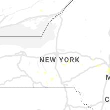 Regional Hail Map for Syracuse, NY - Sunday, August 23, 2020