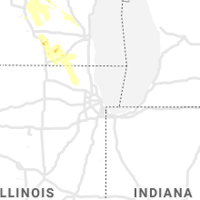 Regional Hail Map for Chicago, IL - Monday, August 24, 2020