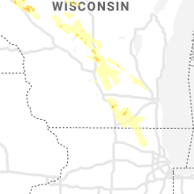 Regional Hail Map for Madison, WI - Monday, August 24, 2020