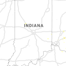 Regional Hail Map for Indianapolis, IN - Tuesday, August 25, 2020