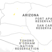 Regional Hail Map for Phoenix, AZ - Saturday, August 29, 2020