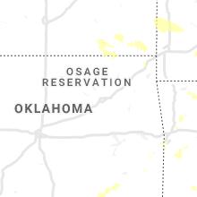 Regional Hail Map for Tulsa, OK - Saturday, August 29, 2020