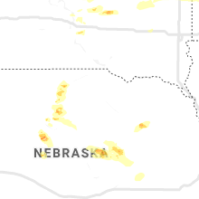 Regional Hail Map for Oneill, NE - Sunday, August 30, 2020