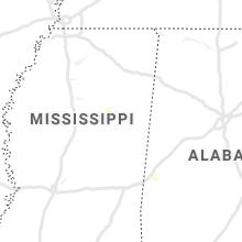 Regional Hail Map for Starkville, MS - Sunday, August 30, 2020