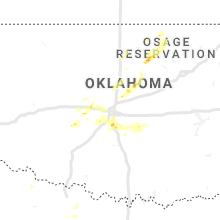 Regional Hail Map for Oklahoma City, OK - Monday, August 31, 2020