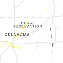 Regional Hail Map for Tulsa, OK - Monday, August 31, 2020