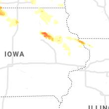 Regional Hail Map for Cedar Rapids, IA - Saturday, September 5, 2020
