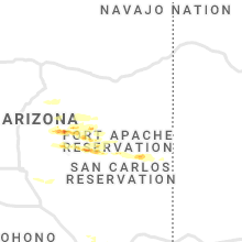 Regional Hail Map for Show Low, AZ - Tuesday, September 8, 2020