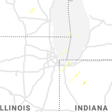 Regional Hail Map for Chicago, IL - Monday, October 12, 2020