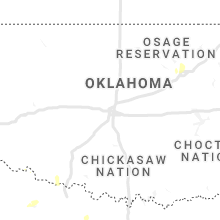 Regional Hail Map for Oklahoma City, OK - Thursday, October 22, 2020