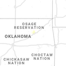 Regional Hail Map for Tulsa, OK - Thursday, October 22, 2020