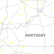 Regional Hail Map for Louisville, KY - Friday, October 23, 2020
