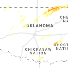 Regional Hail Map for Oklahoma City, OK - Tuesday, November 24, 2020