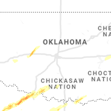 Regional Hail Map for Oklahoma City, OK - Sunday, January 24, 2021
