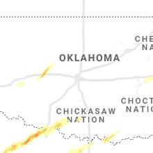 Hail Map for oklahoma-city-ok 2021-01-24