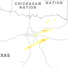 Regional Hail Map for Dallas, TX - Monday, January 25, 2021