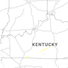 Regional Hail Map for Louisville, KY - Monday, January 25, 2021