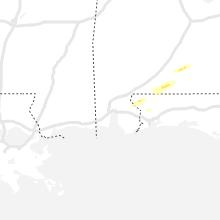 Regional Hail Map for Mobile, AL - Monday, February 8, 2021