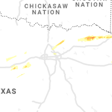 Regional Hail Map for Dallas, TX - Thursday, February 25, 2021