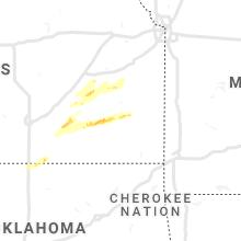 Regional Hail Map for Chanute, KS - Wednesday, March 10, 2021
