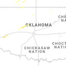 Regional Hail Map for Oklahoma City, OK - Friday, March 12, 2021