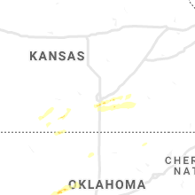 Regional Hail Map for Wichita, KS - Friday, March 12, 2021