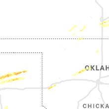 Regional Hail Map for Woodward, OK - Friday, March 12, 2021