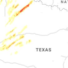 Regional Hail Map for Abilene, TX - Saturday, March 13, 2021