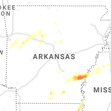 Regional Hail Map for Little Rock, AR - Tuesday, March 16, 2021