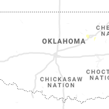 Regional Hail Map for Oklahoma City, OK - Wednesday, March 17, 2021