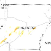 Hail Map for little-rock-ar 2021-03-24