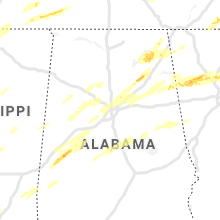 Regional Hail Map for Birmingham, AL - Thursday, March 25, 2021