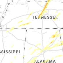 Regional Hail Map for Florence, AL - Thursday, March 25, 2021