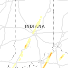 Regional Hail Map for Indianapolis, IN - Thursday, March 25, 2021