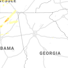 Regional Hail Map for Atlanta, GA - Saturday, March 27, 2021