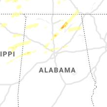 Regional Hail Map for Birmingham, AL - Saturday, March 27, 2021