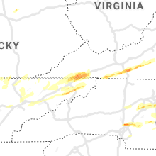 Regional Hail Map for Bristol, TN - Saturday, March 27, 2021
