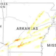 Regional Hail Map for Little Rock, AR - Saturday, March 27, 2021