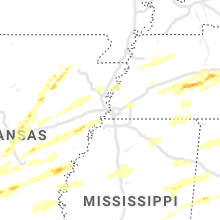 Hail Map for memphis-tn 2021-03-27