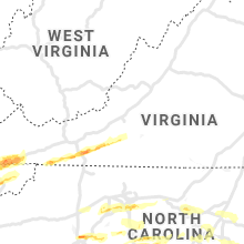 Regional Hail Map for Roanoke, VA - Saturday, March 27, 2021