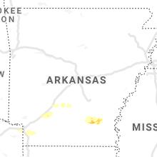 Hail Map for little-rock-ar 2021-03-30