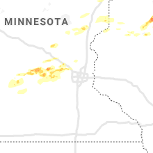 Regional Hail Map for Minneapolis, MN - Monday, April 5, 2021