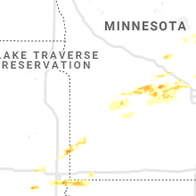 Regional Hail Map for Montevideo, MN - Monday, April 5, 2021