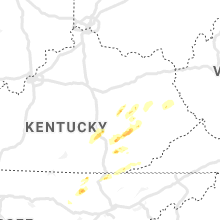 Regional Hail Map for Irvine, KY - Thursday, April 8, 2021