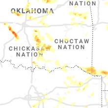 Hail Map for atoka-ok 2021-04-09