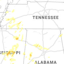 Regional Hail Map for Florence, AL - Friday, April 9, 2021