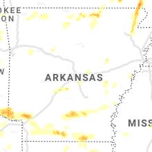 Regional Hail Map for Little Rock, AR - Friday, April 9, 2021
