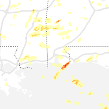 Regional Hail Map for Mobile, AL - Friday, April 9, 2021